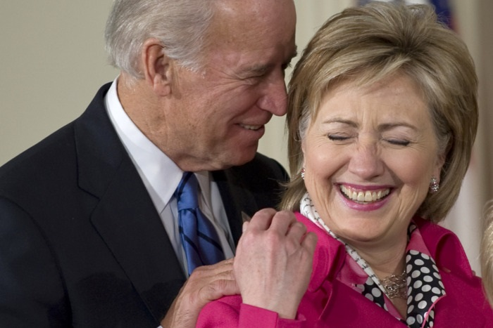 Joe Biden e Hillary Clinton
